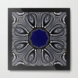 The Blue Center Metal Print