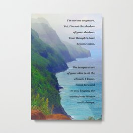 """Land's End #9"" Poem on Photo Metal Print"