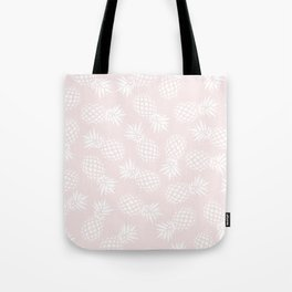 Pineapple pattern on pink 022 Tote Bag