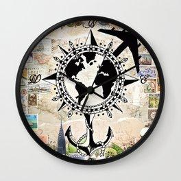 By Land, Sea, or Air Wall Clock