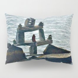 Rock Pile Lake Pillow Sham