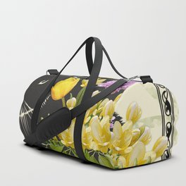 Bunny with Spring Flowers Duffle Bag