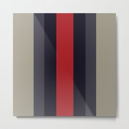 High Fashion Designer Style Stripes Metal Print