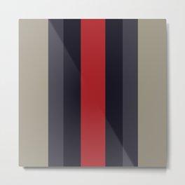 High Fashion Designer Style Stripes Metal Print