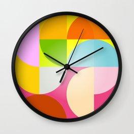 mid century modern geometry Wall Clock