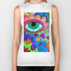 Abstract Eye Biker Tank
