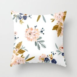 Mason Vintage Roses Throw Pillow