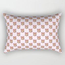 Cat Unicorn Catcorn Unicat Flowers Cry Baby Rectangular Pillow