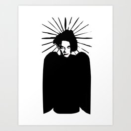 Robert Smith icon saint art Art Print