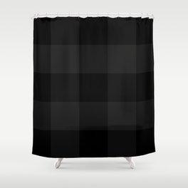 english black pattern Shower Curtain