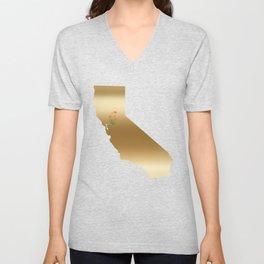 California Gold with State Flower Unisex V-Neck