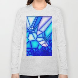 Glowing blue Long Sleeve T-shirt