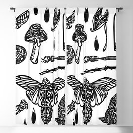 Icon Black and White Blackout Curtain