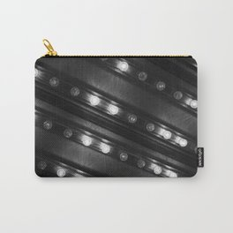 Black and White Twinkle Lights Diagonal Pattern Photograph Art Print Carry-All Pouch