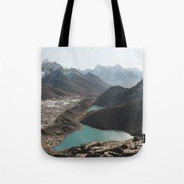 Gokyo Ri overlooking Gokyo Lakes in Everest Region Tote Bag