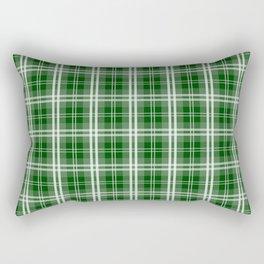 Christmas Tree Green Tartan Plaid Check Rectangular Pillow
