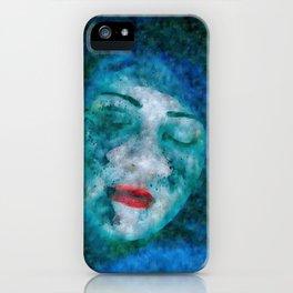 BLUE INSPIRATION | SILK STILIZATION iPhone Case