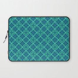 DeMEDICI emerald green royal blue repeat seamless pattern Laptop Sleeve