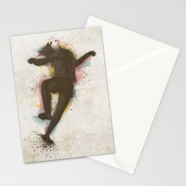 Contemporany Dancing in Color Stationery Cards