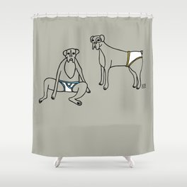 Boxers and Briefs Shower Curtain