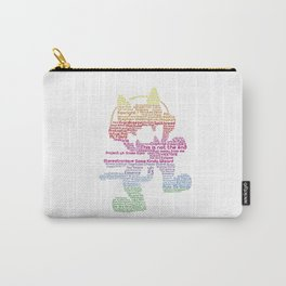 MonsterCat Typography Carry-All Pouch