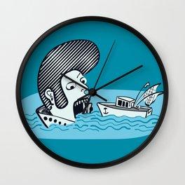 Elvis Eats Boats Wall Clock