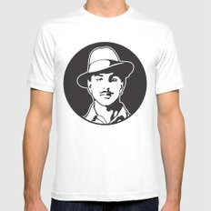 Bhagat Singh White SMALL Mens Fitted Tee