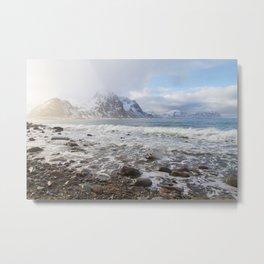 Lofoten Beach Metal Print