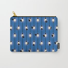 Moths on Fairy Lights Carry-All Pouch