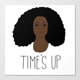 Oprah - Time's Up Canvas Print