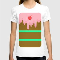 cake T-shirts featuring Cake by Rejdzy