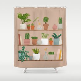 Plant Mama Shelfie Shower Curtain