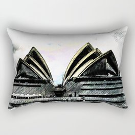 Sydney Opera House  Collection II Rectangular Pillow