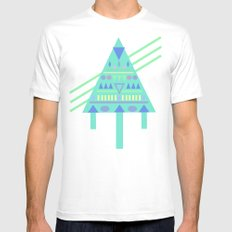 Tri∆nalog Mens Fitted Tee MEDIUM White