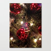 minnie mouse Canvas Prints featuring Minnie Mouse Ornament by Lindsey Hart Photography