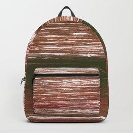 Van Dyke Brown abstract watercolor Backpack
