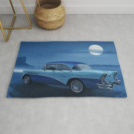 Blue night on Route 66 Rug