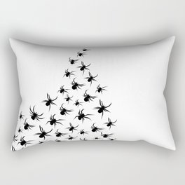 Clutter - Black on White Rectangular Pillow