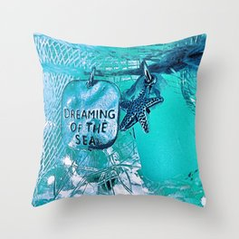 Dreaming Of The Sea Throw Pillow
