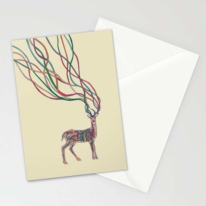 Deer Ribbons Stationery Cards