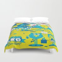 large Duvet Covers featuring Live Large by jumpy