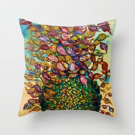 Le grand flower bouquet in vase by Seraphine Louis Throw Pillow