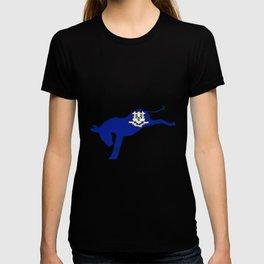 Connecticut Democrat Donkey Flag T-shirt