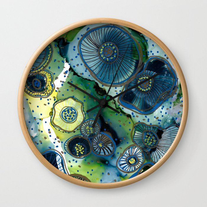 Anemone Fields Wall Clock