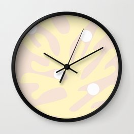 Matisse print, Matisse inspired art, Matisse cut out, Exhibition wall art, Matisse cut out, Matisse flower, Pastel pink Wall Clock