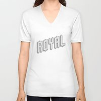 royal V-neck T-shirts featuring Royal by Tyler Shaffer