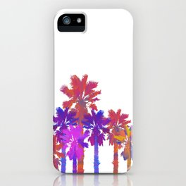 Vibrant Palmtrees No.1 (sticker/white) iPhone Case