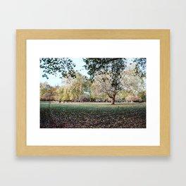 Parque de Londres en otoño. Framed Art Print