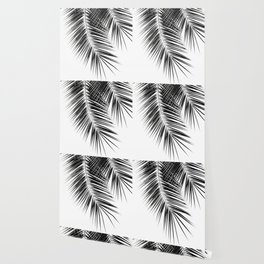 Black Palm Leaves Dream - Cali Summer Vibes #2 #tropical #decor #art #society6 Wallpaper