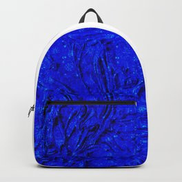 Indigo Lovely Calm Blue, Moroccan Traditional Texture Painting (N30) Backpack